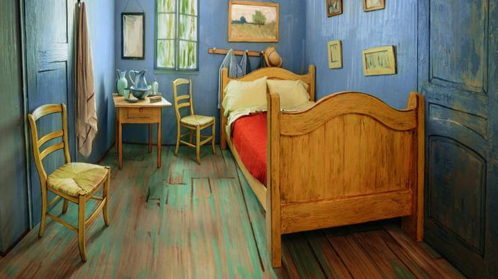 A real-life replica of van Gogh's bedroom.