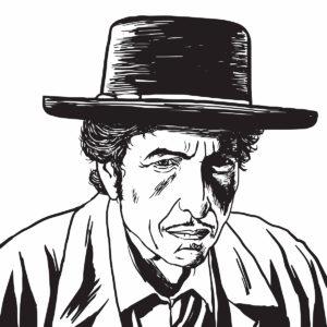 An illustration of Bob Dylan.
