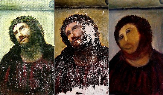 Botched Statue Restoration Compared to Infamous 'Ecce Homo' Incident