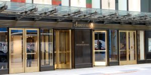 Christie's fine arts auction house, located at Rockefeller Center in New York City.