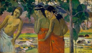 "A painting titled, ""Three Tahitian Women,"" by Paul Gauguin (1896)."