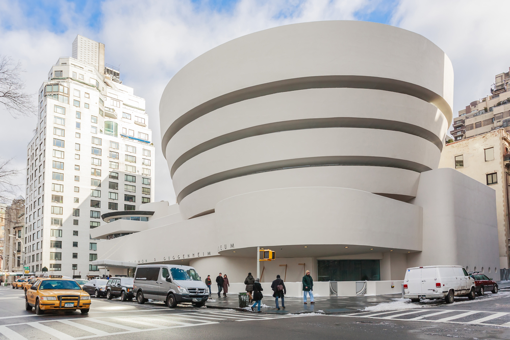 A photo of the Solomon R. Guggenheim Museum, located in New York City.