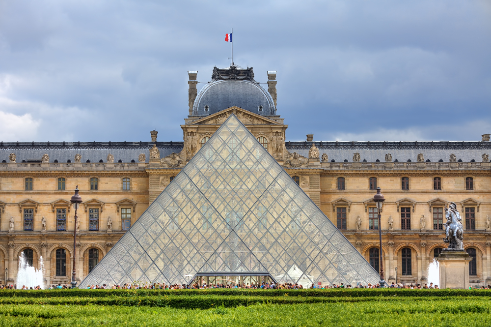 A photo of the Louvre, the largest museum in the world.